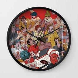 Hockey Parents Wall Clock