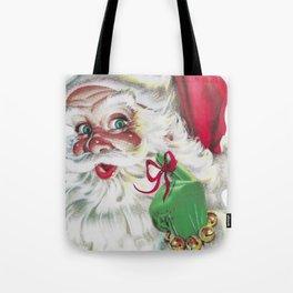 classic santa - vintage nostalgic American classic Christmas Tote Bag