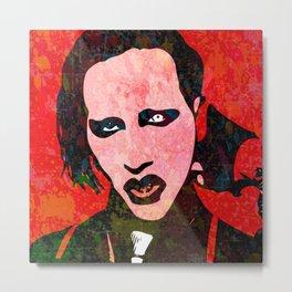 Manson | Pop Art Metal Print
