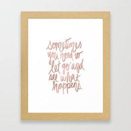Let Go - Rose Gold Framed Art Print