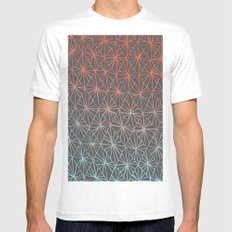 Gray Diamonds Mens Fitted Tee LARGE White