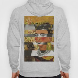 Frida Kahlo's Self Portrait with Parrot & Joan Crawford Hoody