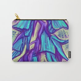 Australian Birdflower, Floral Painting, Vanilla Blue Violet Carry-All Pouch