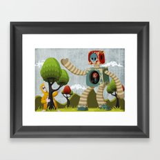 Woody Mecha Framed Art Print