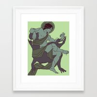 sam smith Framed Art Prints featuring Sam by Noble Demons