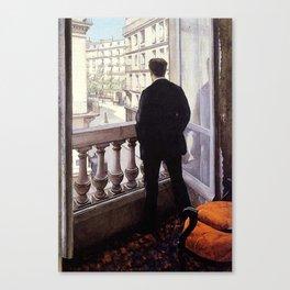 G. Caillebotte - Jeune homme à la fenêtre Canvas Print