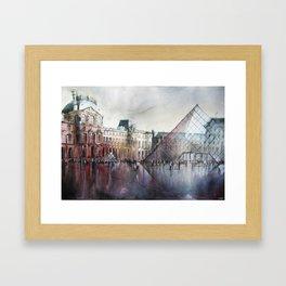 Le Louvre - Paris Watercolor Framed Art Print