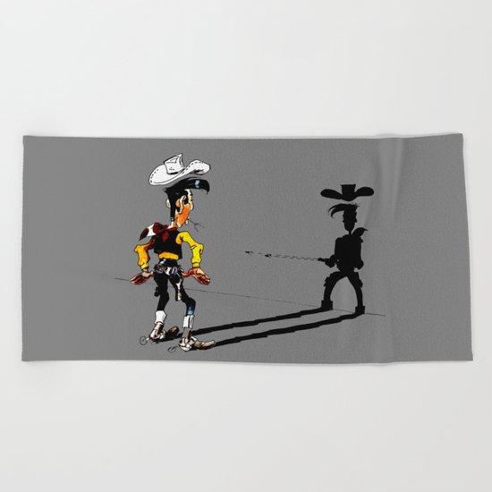 Fast shadow - OUPS - grey version Beach Towel