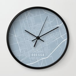 Odessa Map, USA - Slate Wall Clock