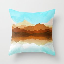 Western Sky Reflections In Watercolor Throw Pillow