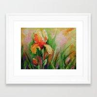 iris Framed Art Prints featuring Iris by OLHADARCHUK
