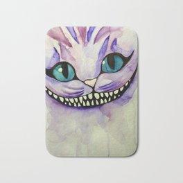 Smiling Cat Water color Bath Mat