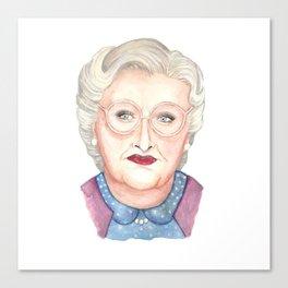 Mrs Doubtfire Canvas Print