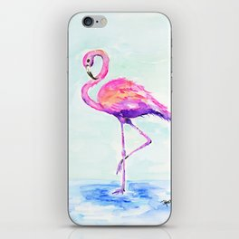 Flamingo Love iPhone Skin