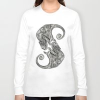 chameleon Long Sleeve T-shirts featuring Chameleon by gina shord