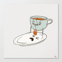 tea Canvas Prints featuring Tea Baggin' by Phil Jones