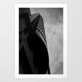 Dramatic Black and White Print Art Print