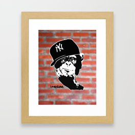 I'nstein Monkey Framed Art Print