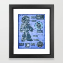 Build Your Own Mega Robot! Framed Art Print