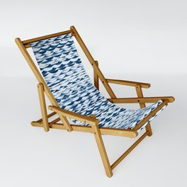 Glitch Waves - Classic Blue Sling Chair