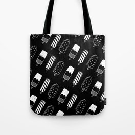 Summer Ice Lollies (Black) Tote Bag