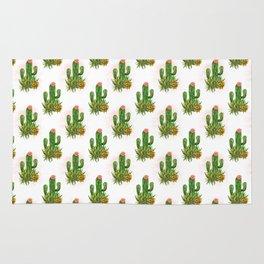 Cacti and succulents arrangement Rug