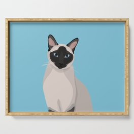 The Regal Siamese Cat Serving Tray