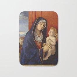 """Giovanni Bellini """"Madonna and Child"""" (2) (late 1480s) Bath Mat"""