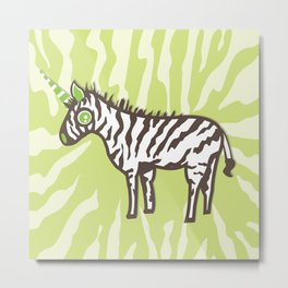 Cute Zebra Unicorn  Metal Print