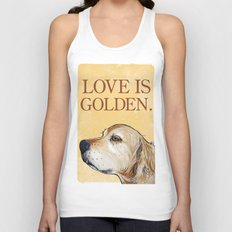 Love is Golden Unisex Tank Top