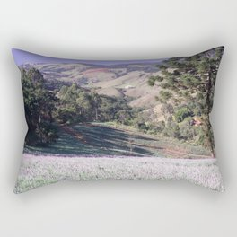Lavenders and mountains Rectangular Pillow