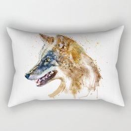 Coyote Head Rectangular Pillow
