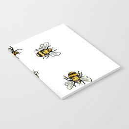 Just Some Beez A - White Notebook