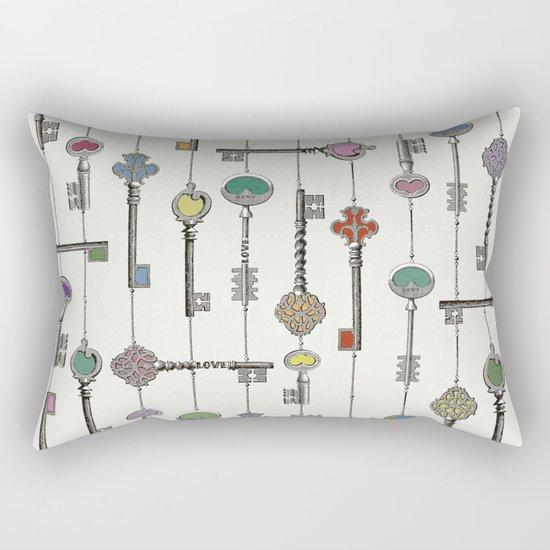 Love is the Key Rectangular Pillow