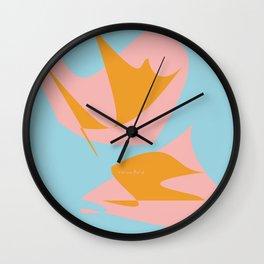 Rose Orange 02 Wall Clock