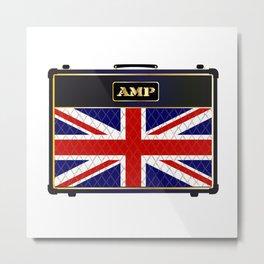 Union Jack Guitar Amplifier Metal Print
