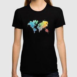 World Map splash 1 T-shirt