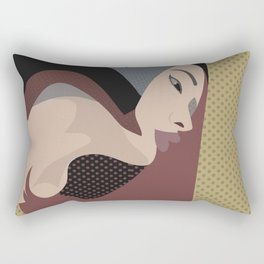 A red-haired woman9 Rectangular Pillow