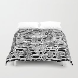 Beautiful Black and White Australiana Print Duvet Cover
