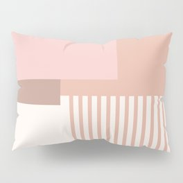 Sol Abstract Geometric Print in Pink Pillow Sham