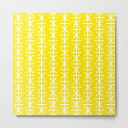 Geometric Pattern #168 (yellow stars) Metal Print