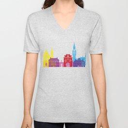 The Hague skyline pop Unisex V-Neck