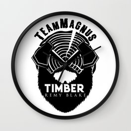 TIMBER By Remy Blake Wall Clock