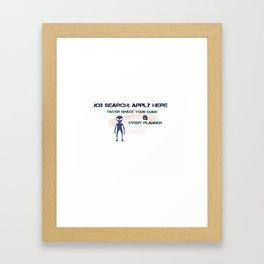 Job Search Framed Art Print