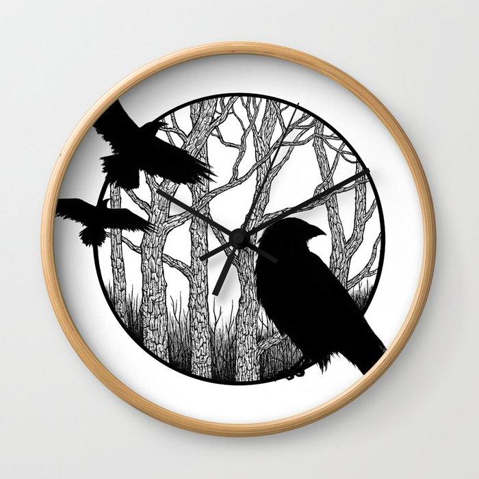 Black Birds II Wall Clock