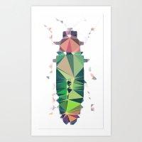 Geometric Entomology III Art Print