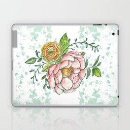 Peonies and paint dots Laptop & iPad Skin