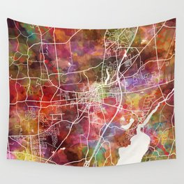 Saratoga Springs map Wall Tapestry