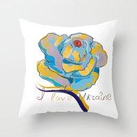 ukraine Throw Pillows featuring ukraine by luiza13