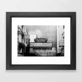 NOW PLAYING Framed Art Print